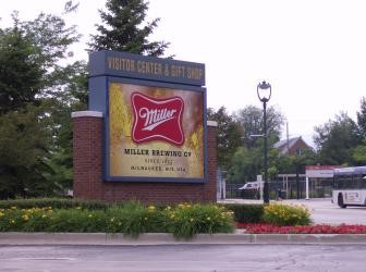Miller Brewery Parking Lot former home of the Davidson's