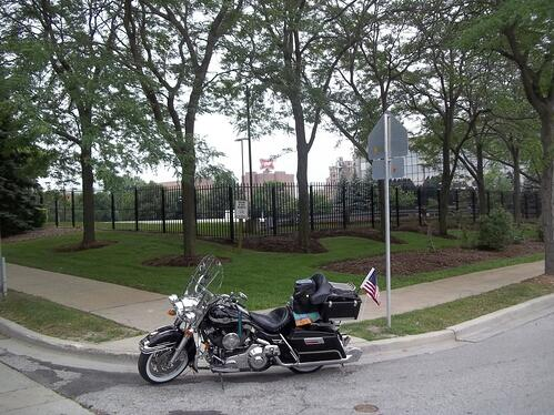 The original 1903 H-D Shed was located just inside that fenced area inside the Miller Brewery Parking Lot.