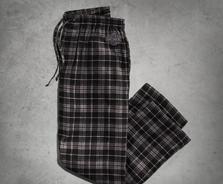 Black Plaid Flannel Lounge Pants