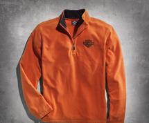 Orange 1/4 Zip Logo Fleece