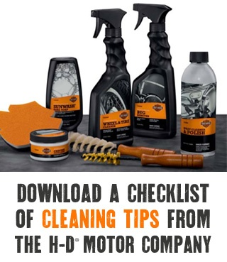 harley davidson cleaning tips